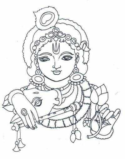 Line Art Radha Krishna : Free coloring pages of lord krishna drawing